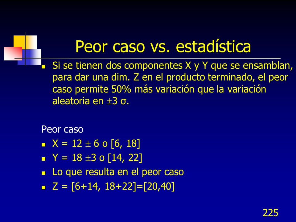 Peor caso vs. estadística