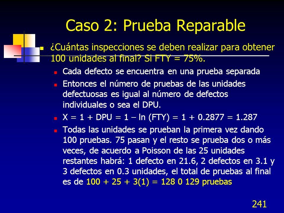 Caso 2: Prueba Reparable