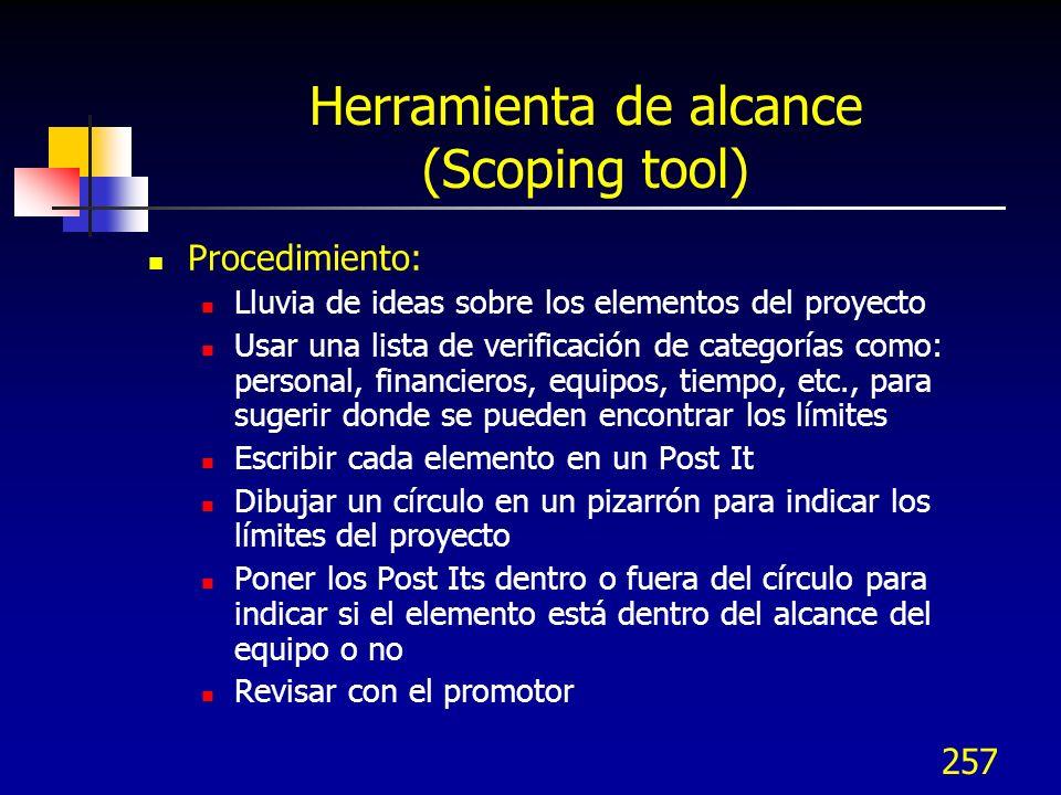 Herramienta de alcance (Scoping tool)