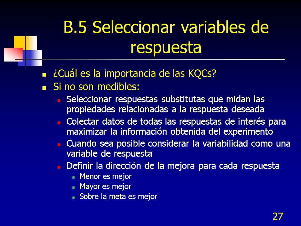 B.5 Seleccionar variables de respuesta
