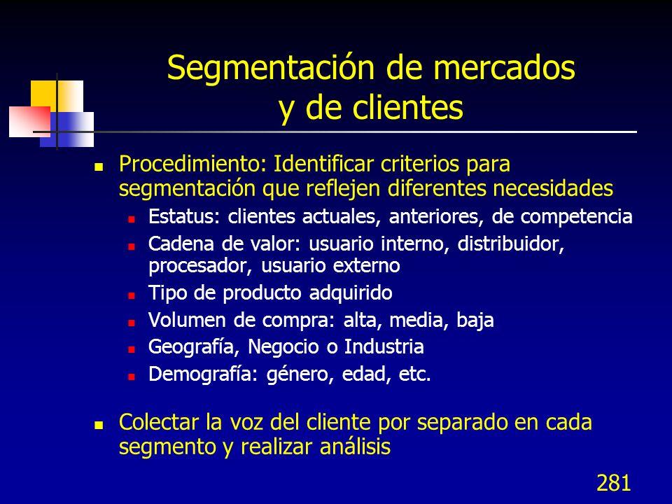 Segmentación de mercados y de clientes