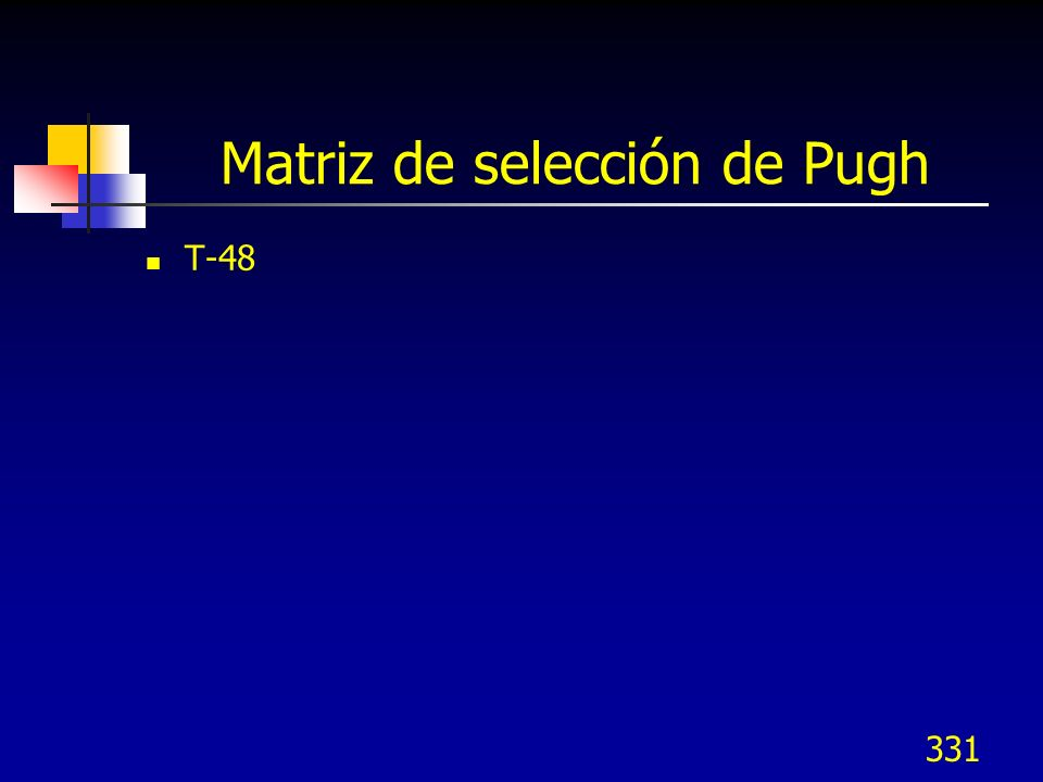 Matriz de selección de Pugh