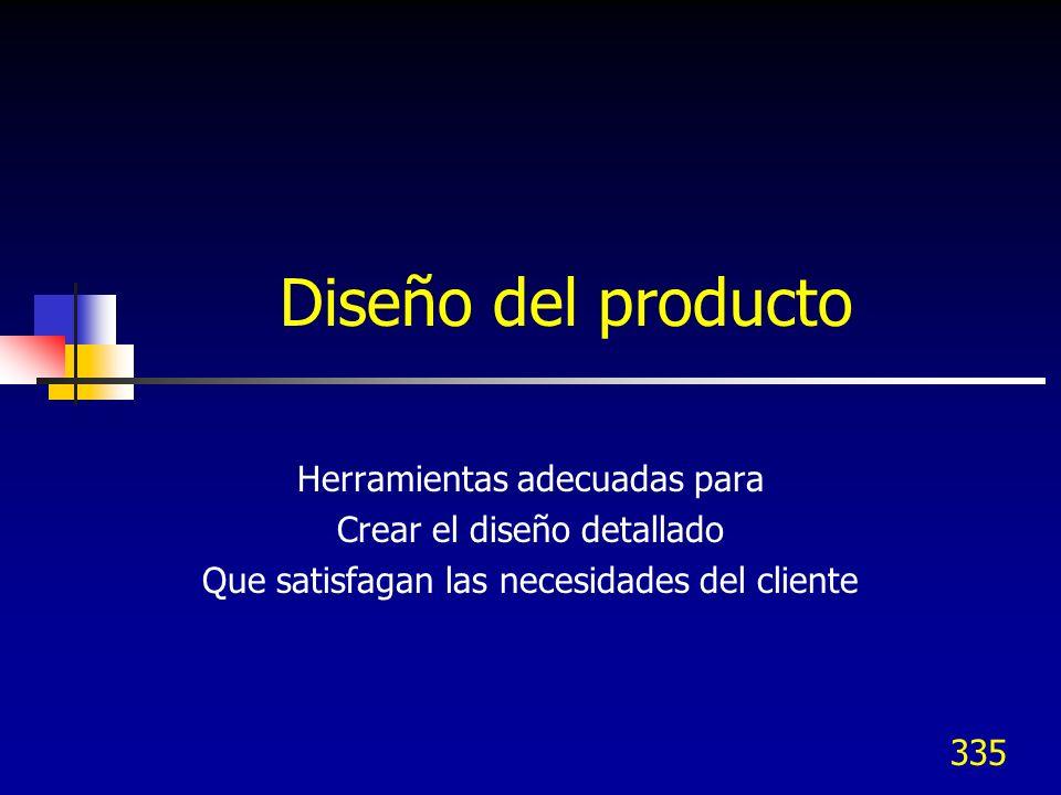 Diseño del producto Herramientas adecuadas para