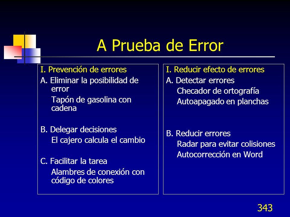A Prueba de Error I. Prevención de errores