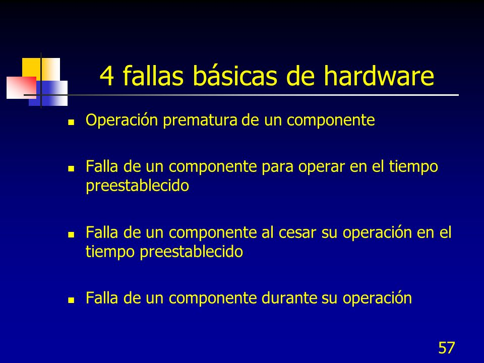 4 fallas básicas de hardware