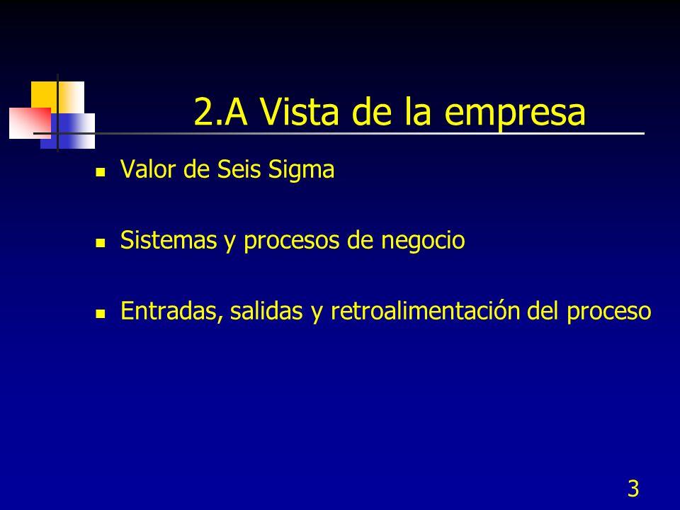 2.A Vista de la empresa Valor de Seis Sigma