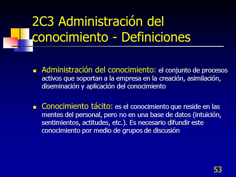 2C3 Administración del conocimiento - Definiciones