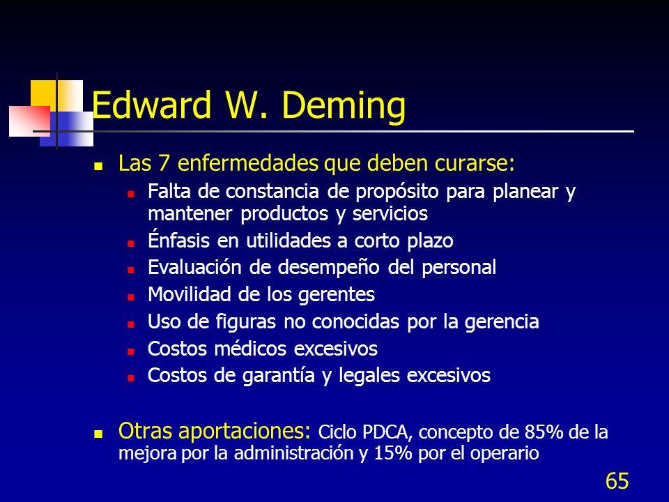 Edward W. Deming Las 7 enfermedades que deben curarse: