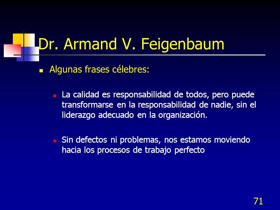 Dr. Armand V. Feigenbaum Algunas frases célebres: