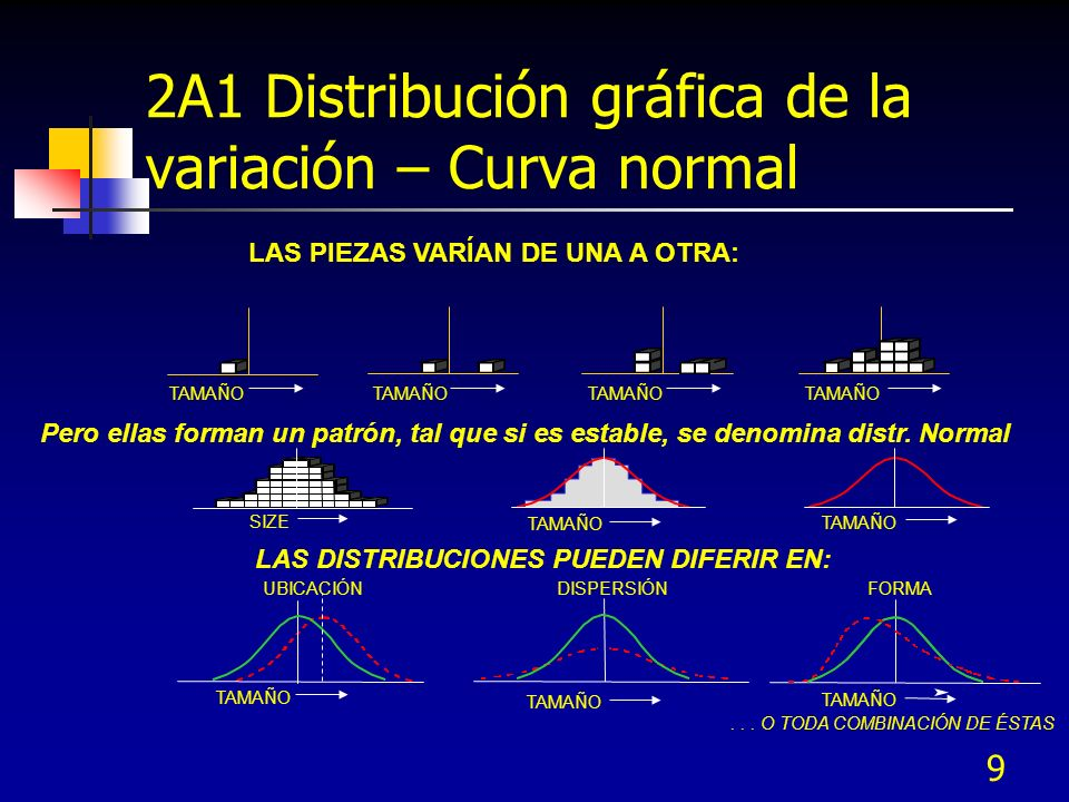 2A1 Distribución gráfica de la variación – Curva normal