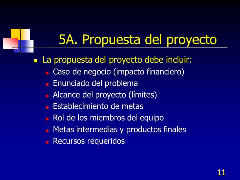5A. Propuesta del proyecto
