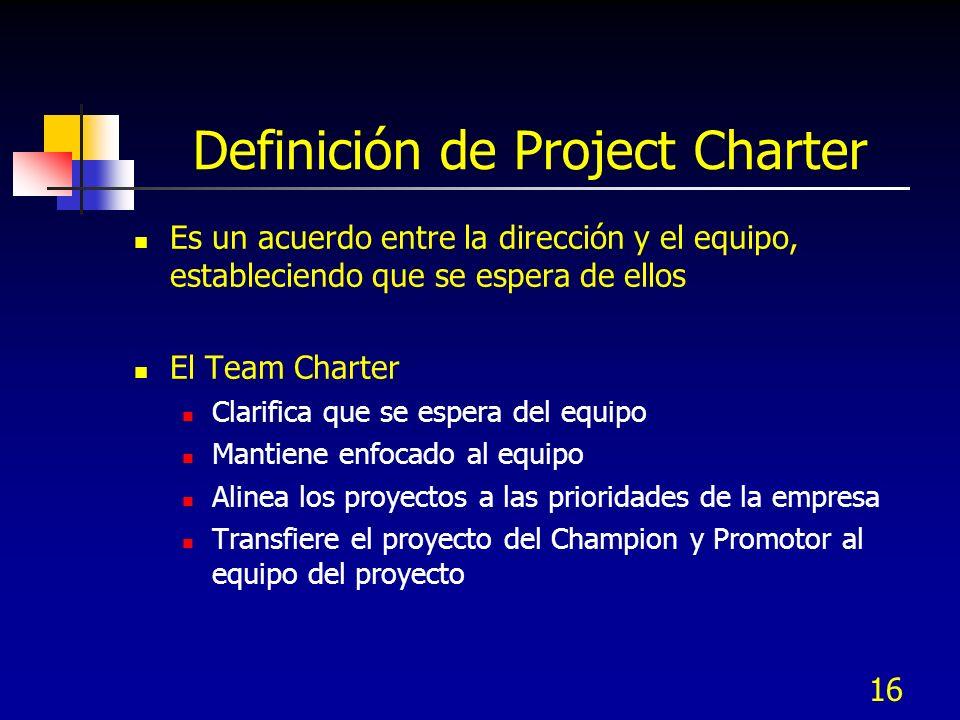 Definición de Project Charter