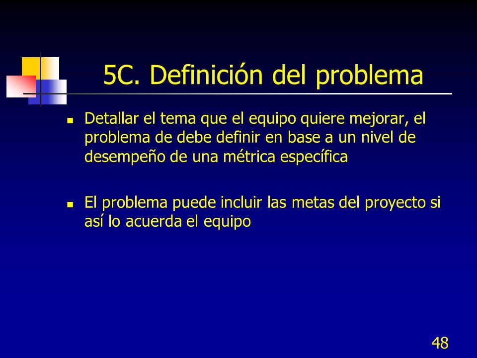 5C. Definición del problema