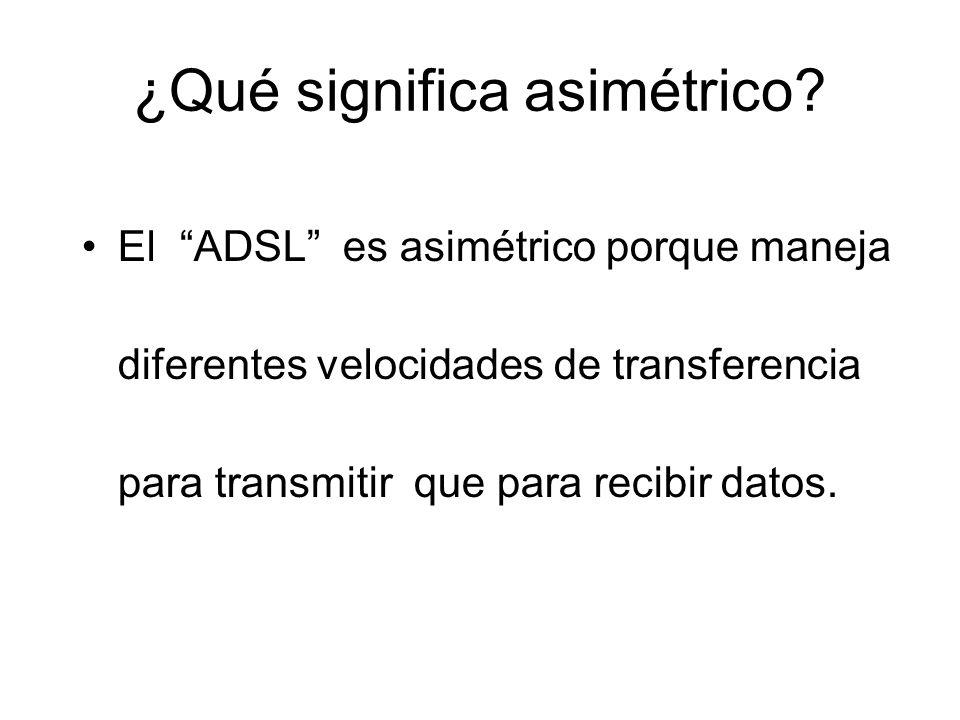 ¿Qué significa asimétrico