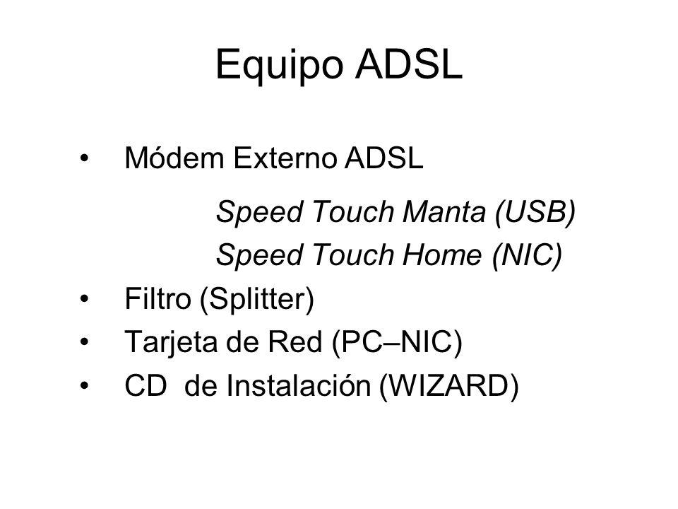 Equipo ADSL Módem Externo ADSL Speed Touch Manta (USB)