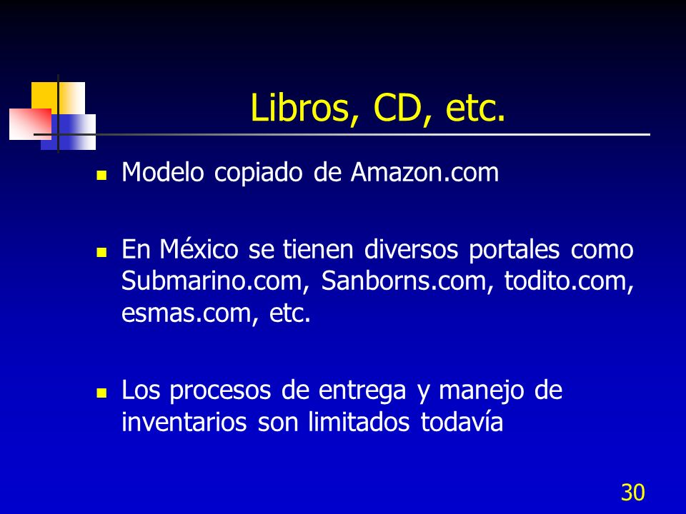 Libros, CD, etc. Modelo copiado de Amazon.com