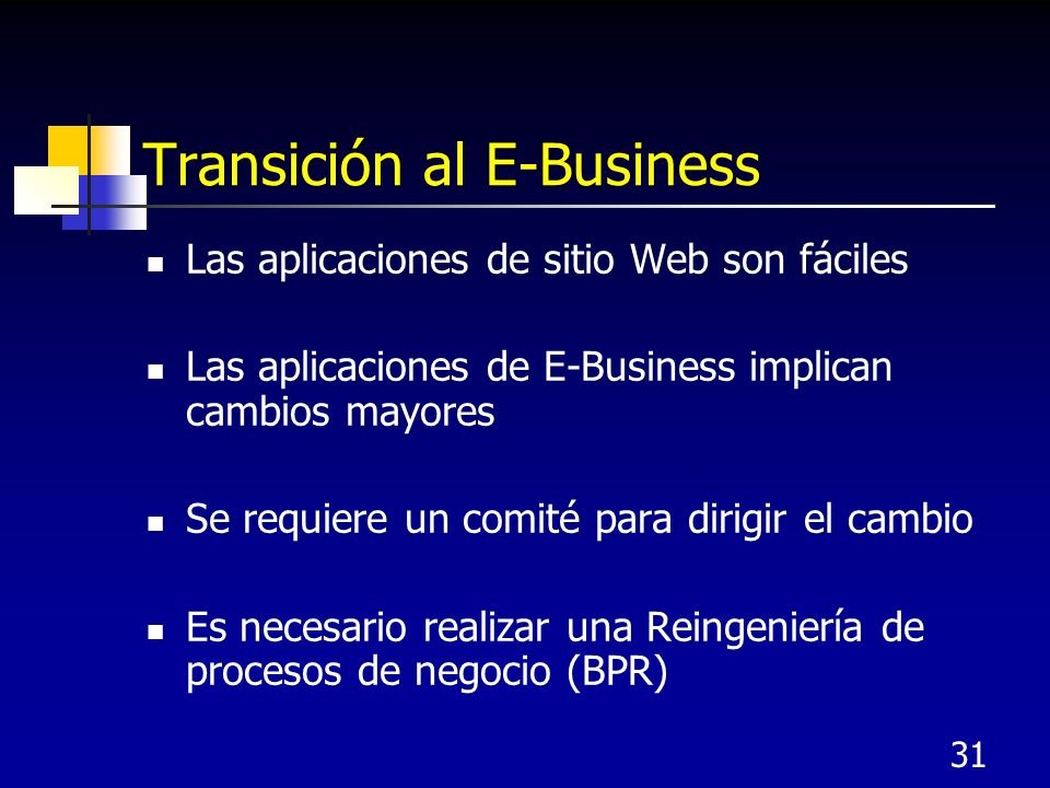 Transición al E-Business