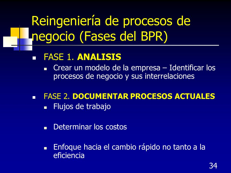 Reingeniería de procesos de negocio (Fases del BPR)
