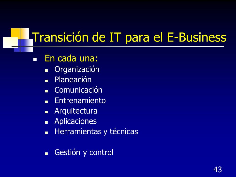 Transición de IT para el E-Business