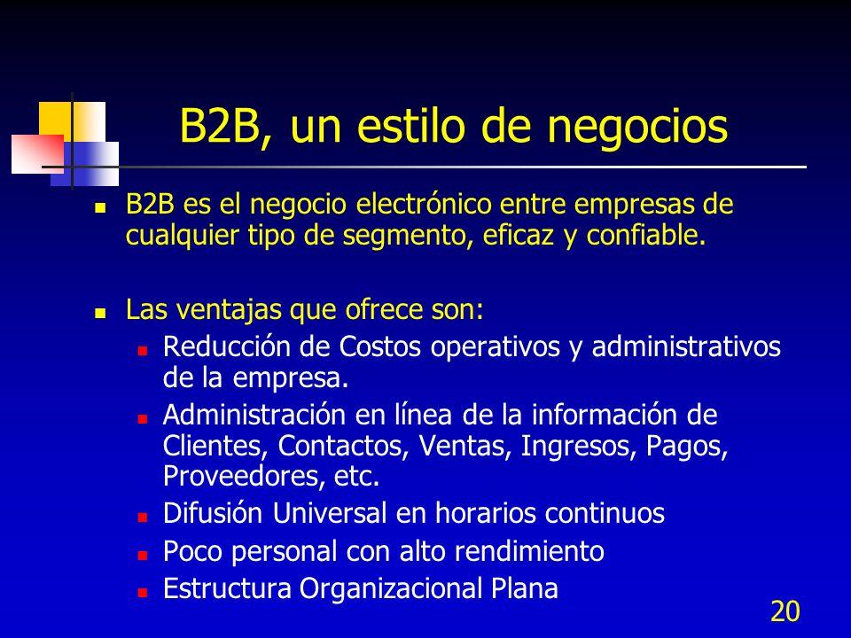 B2B, un estilo de negocios