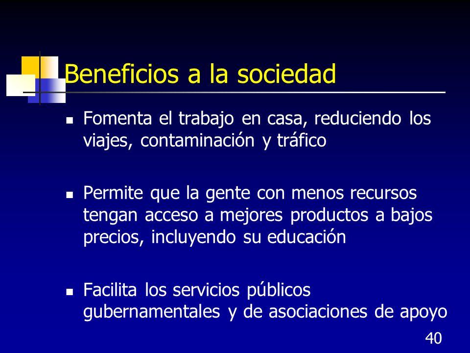 Beneficios a la sociedad