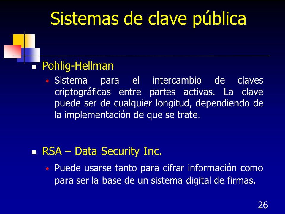 Sistemas de clave pública