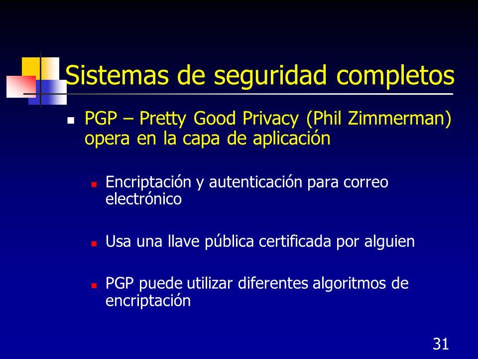 Sistemas de seguridad completos