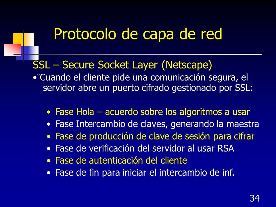 Protocolo de capa de red