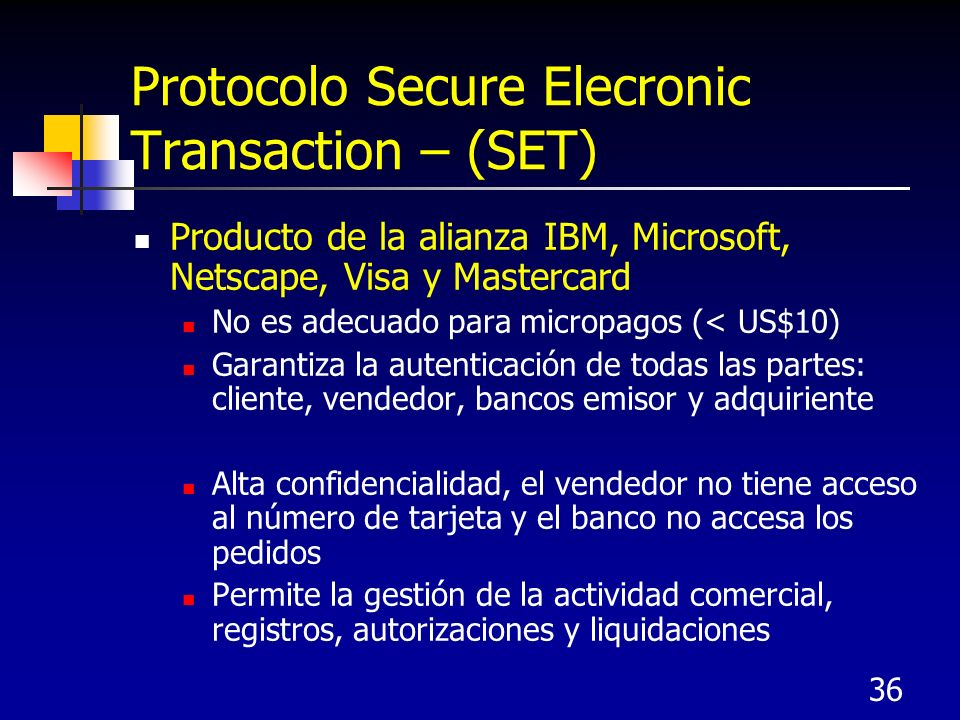 Protocolo Secure Elecronic Transaction – (SET)