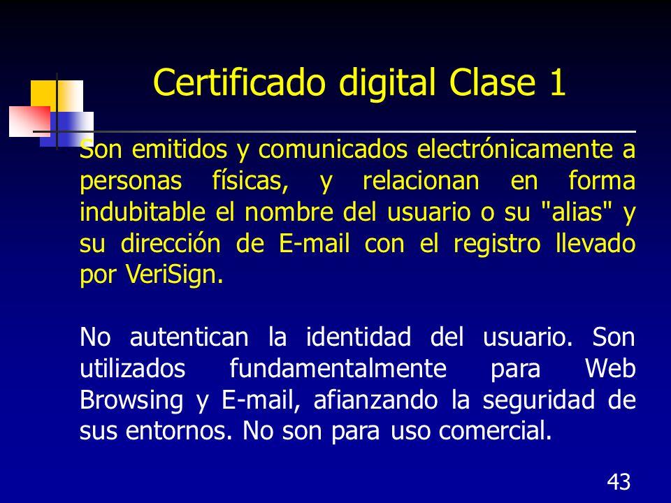 Certificado digital Clase 1