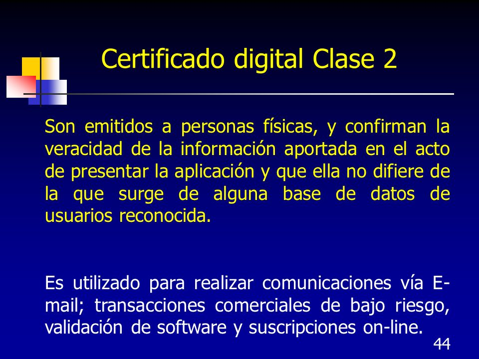 Certificado digital Clase 2