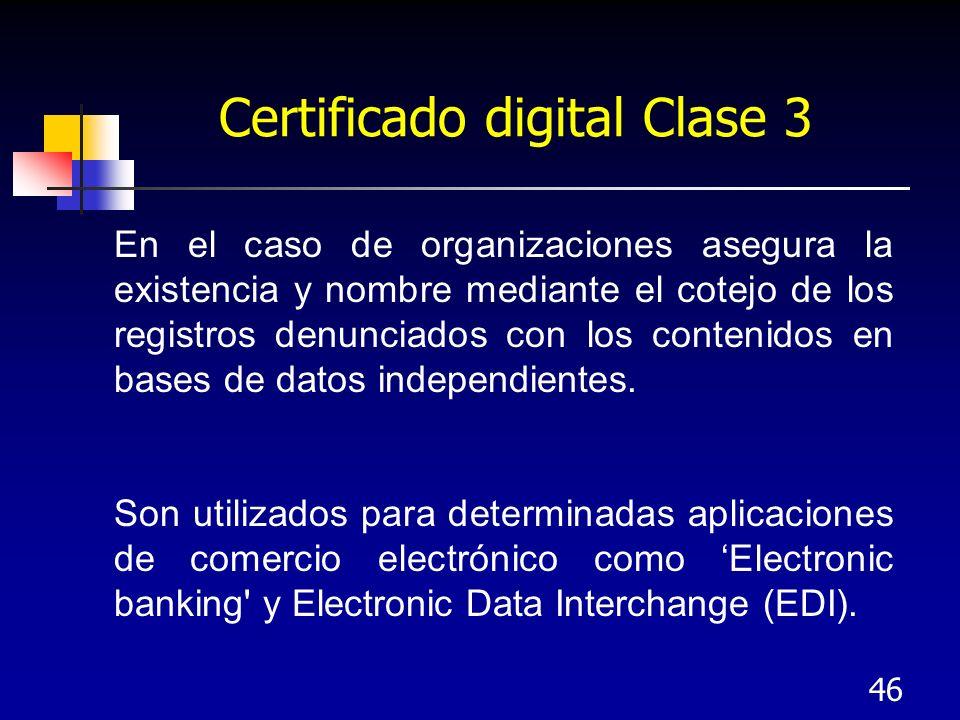Certificado digital Clase 3