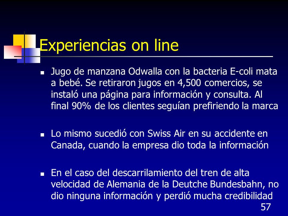Experiencias on line