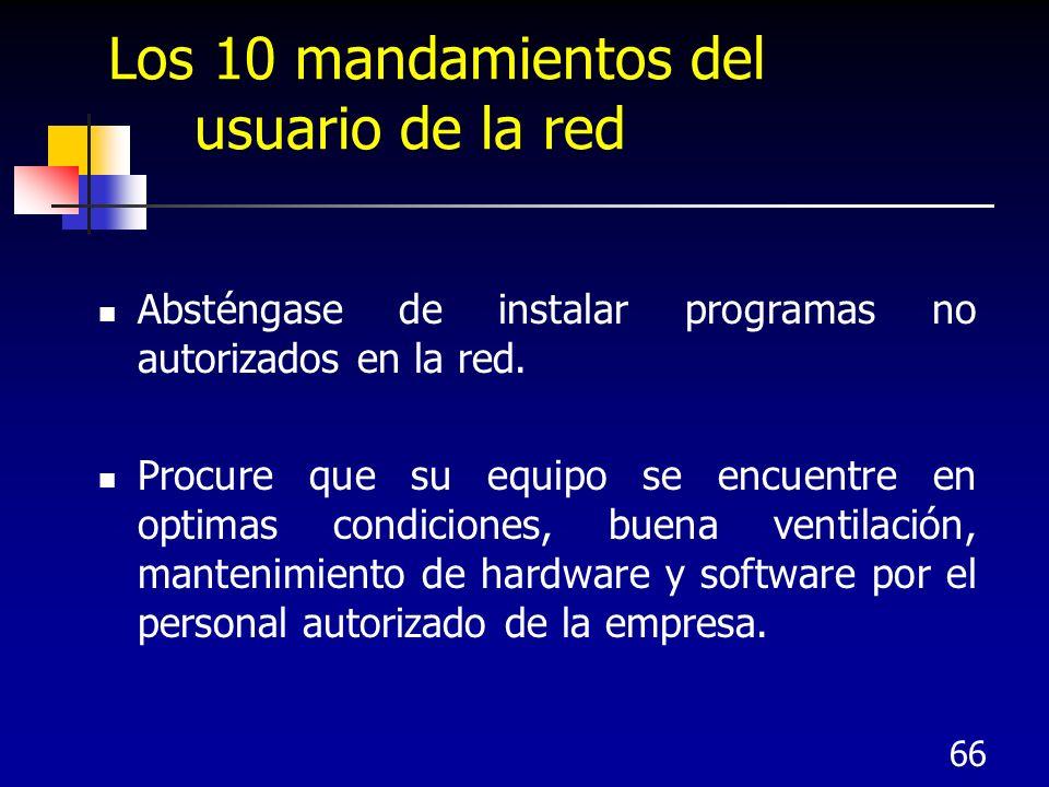 Los 10 mandamientos del usuario de la red