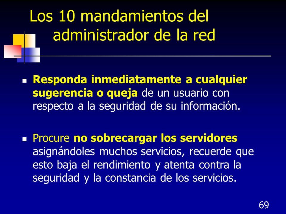 Los 10 mandamientos del administrador de la red