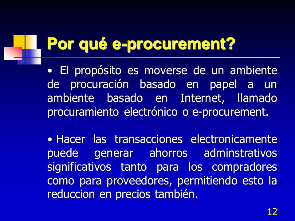 Por qué e-procurement