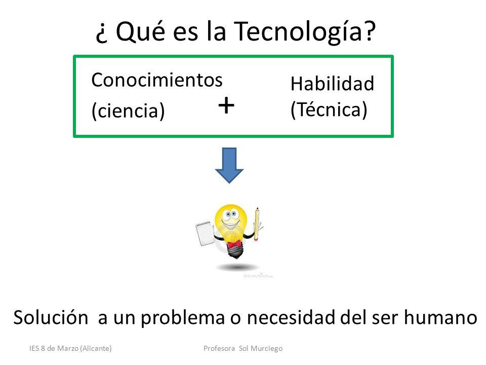 Ies 8 de marzo alicante proceso tecnol gico tecnolog a for Ferreteria tecnica de alicante