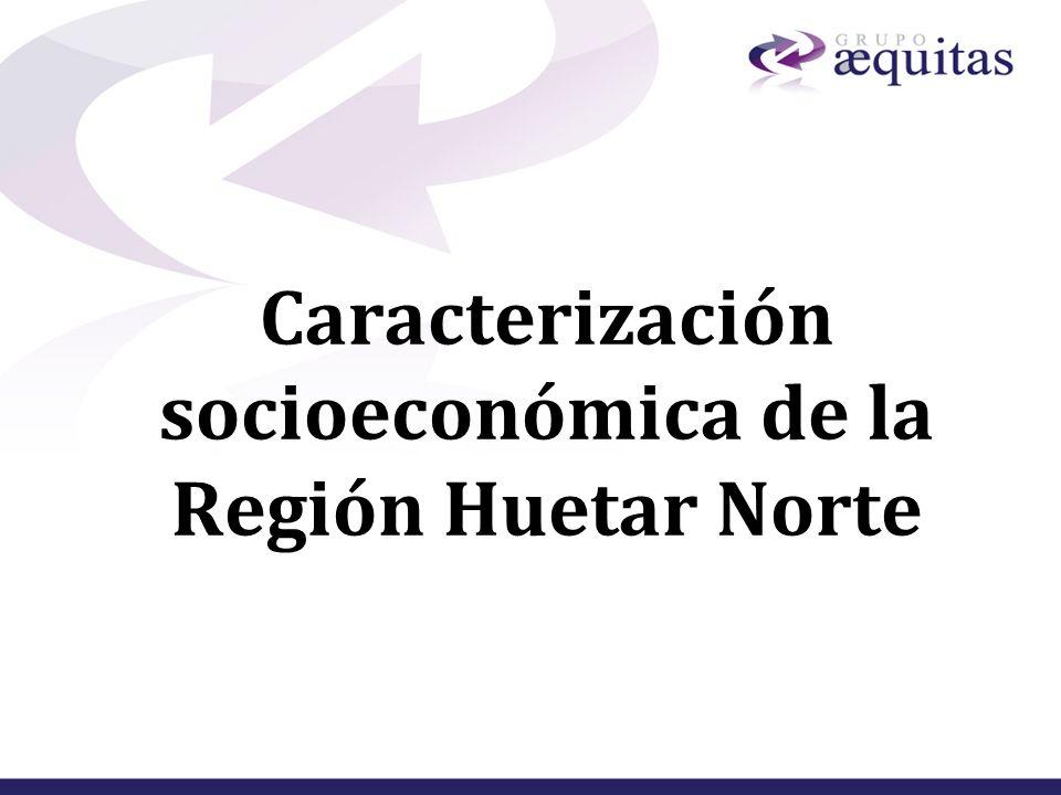Caracterización socioeconómica de la Región Huetar Norte