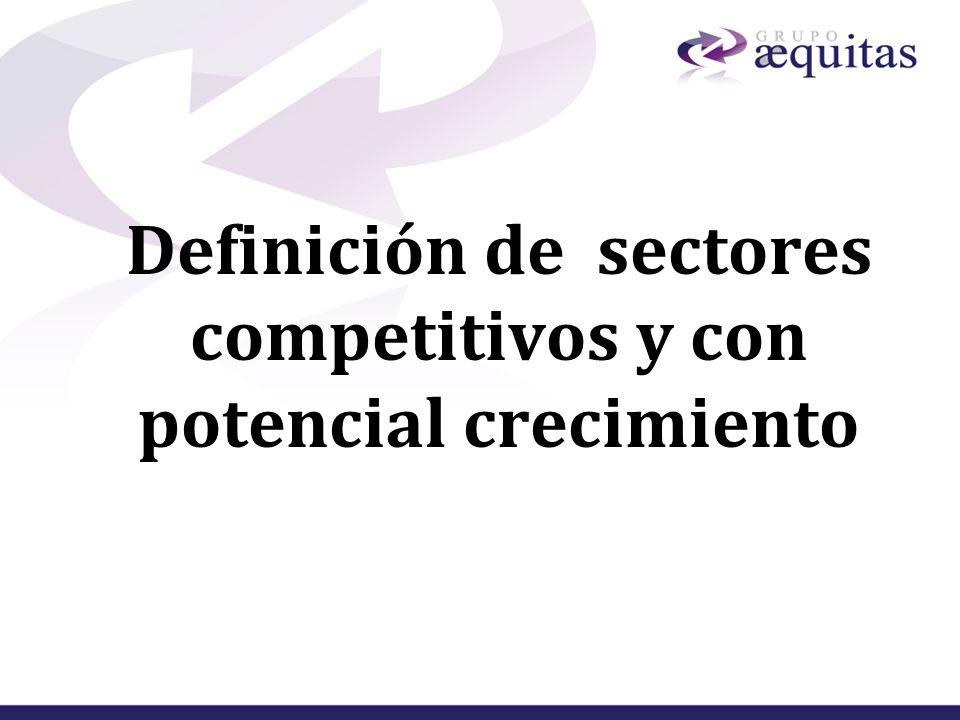 Definición de sectores competitivos y con potencial crecimiento