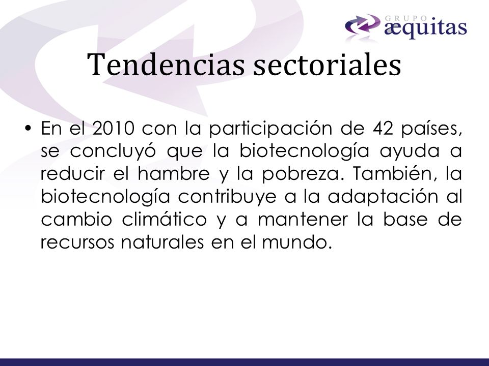 Tendencias sectoriales