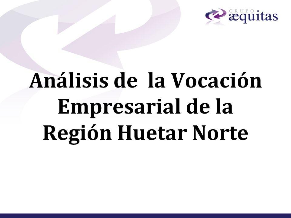 Análisis de la Vocación Empresarial de la Región Huetar Norte