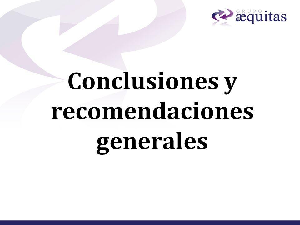 Conclusiones y recomendaciones generales