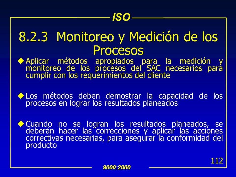 8.2.3 Monitoreo y Medición de los Procesos