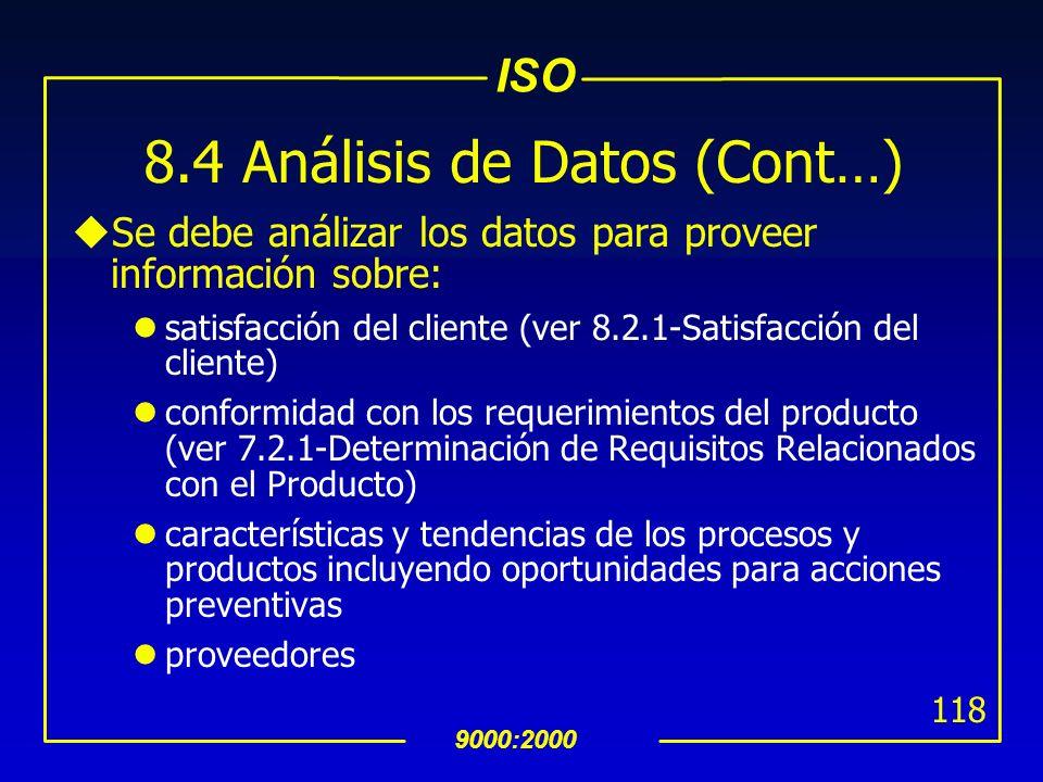 8.4 Análisis de Datos (Cont…)