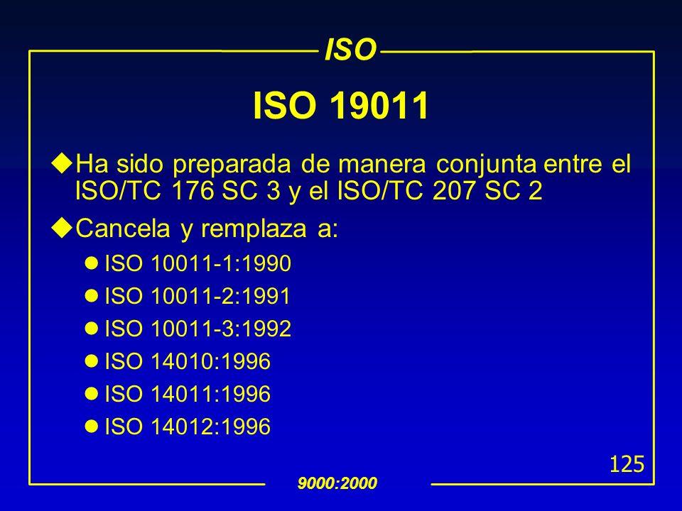 ISO 19011Ha sido preparada de manera conjunta entre el ISO/TC 176 SC 3 y el ISO/TC 207 SC 2. Cancela y remplaza a:
