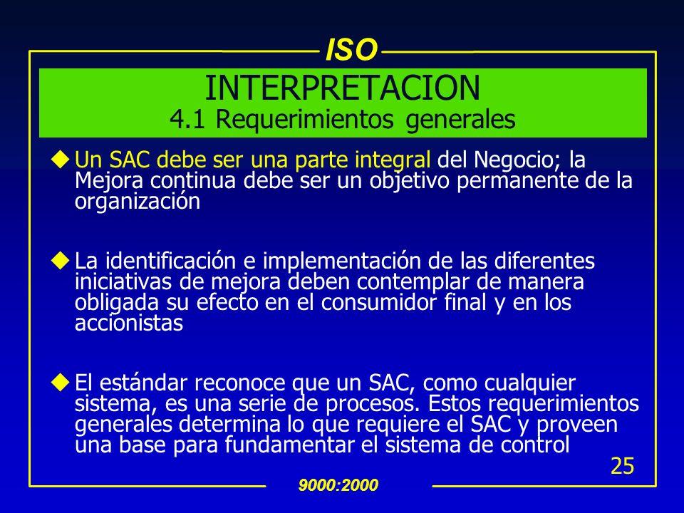 INTERPRETACION 4.1 Requerimientos generales