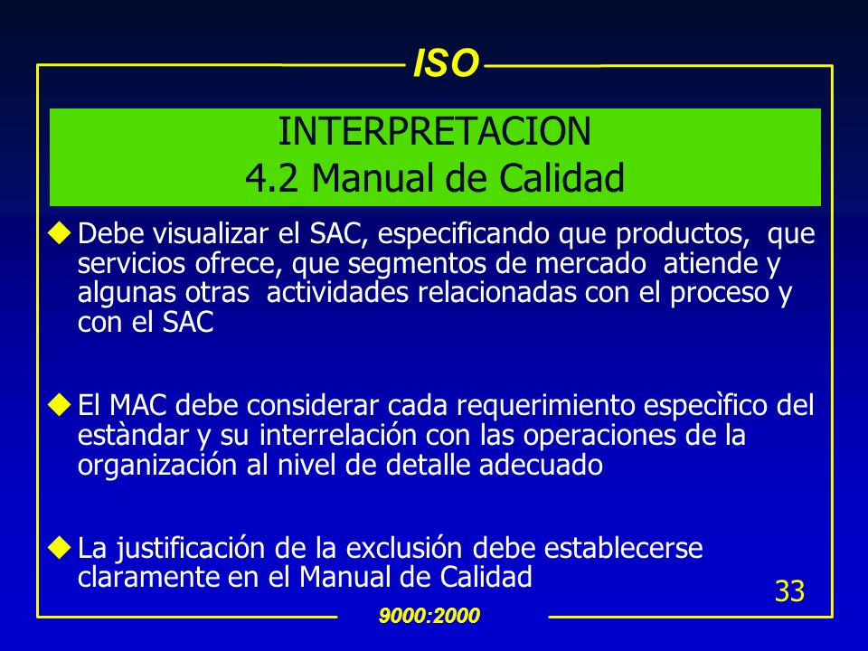 INTERPRETACION 4.2 Manual de Calidad