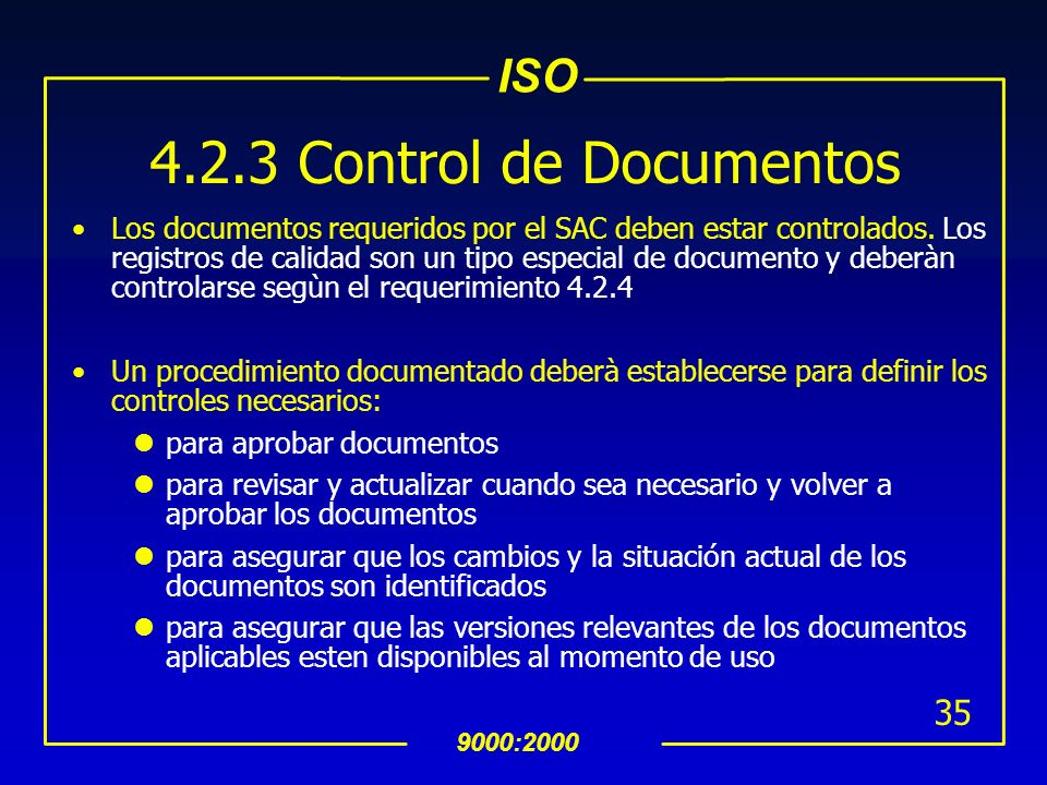4.2.3 Control de Documentos