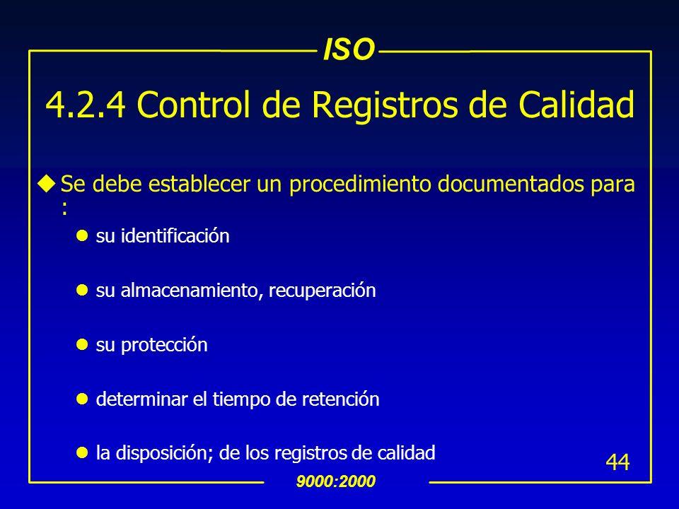 4.2.4 Control de Registros de Calidad