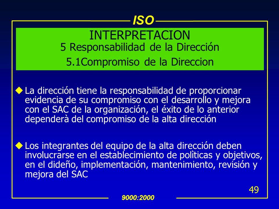INTERPRETACION 5 Responsabilidad de la Dirección 5